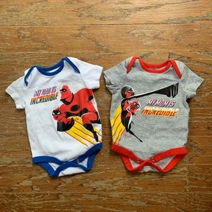 Two Disney The Incredibles onesies